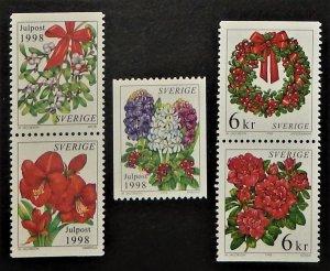 Sweden 2313-17. 1998 Christmas, NH