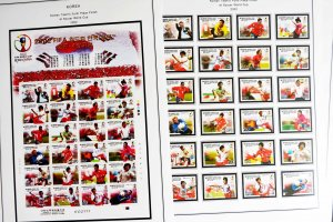 COLOR PRINTED SOUTH KOREA 2000-2010 STAMP ALBUM PAGES (98 illustrated pages)
