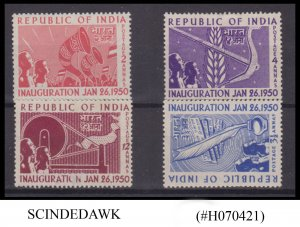 INDIA - 1950 INAUGURATION OF REPUBLIC SG#329-332 4V - MINT HINGED