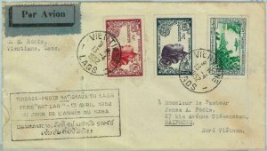 94650 - LAOS - Postal History -  FDC COVER to VIETNAM  airmail  1952 - ART LAO