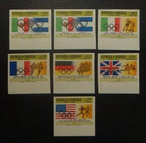 Honduras C429-35 var. 1968 Olympics, imperforate, NH