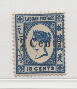 Malaya Labuan - 1885 - SG25 - 2c on 16c - no gum #685