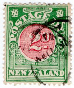 (I.B) New Zealand Postal : Postage Due 2d (1919)