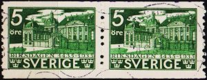 Sweden. 1935 5ore(Coil Pair) S.G.182a Fine Used