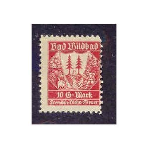 Germany - Bad Wildbad 10 DM Municipal Revenue Stamp
