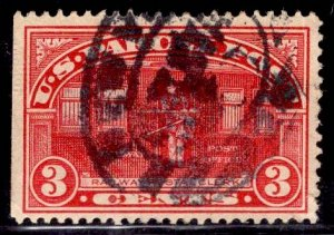 US Stamp #Q3 3c Carmine Rose Parcel Post USED SCV $6.00