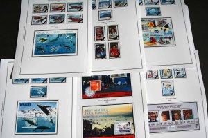 COLOR PRINTED BRITISH ANTARCTIC 1963-2010 STAMP ALBUM PAGES (62 illustr. pages)
