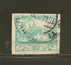 Czechoslovakia 4 Imperforated Used
