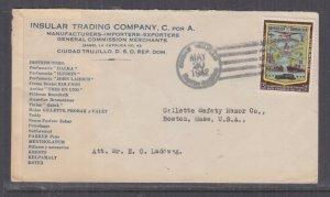 DOMINICAN REPUBLIC, 1942 Censored cover Cuidad Trujillo to USA, 3c.