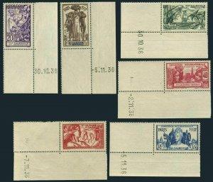 New Caledonia 208-213,214,MNH.Mi 200-205,Bl.1. Paris 1937 Colonial Art EXPO.