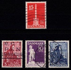 Denmark 1938 Abolition of Villeinage & Return of Thorvaldsen, Sets [Used]