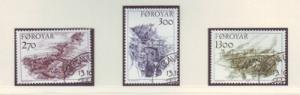 Faroe Islands Sc 149-51 1987 traditional farmhouses stamp...