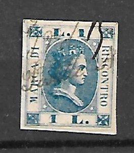 KINGDOM ITALY FISCAL REVENUE TAX PASSPORT  STAMP c.1860s,