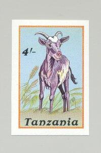 Tanzania #434 Goat, Animals 1v Imperf Proof