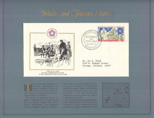 Wallis and Futuna Islands, Sc 187, FDC, 1976, US Bicentennial, SEE BELOW