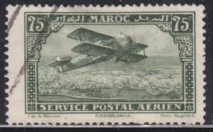 Fr Morocco C5 Hinged 1922 Biplane Over Casablanca