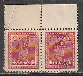 #254 Canada Mint OGNH pair George VI