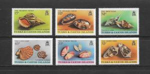 SHELLS - TURKS & CAICOS #434-9  MNH