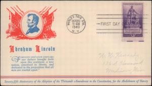 United States, New York, First Day Cover