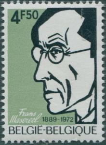 Belgium 1972 SG2290 4f.50 Frans Masereel painter MNH
