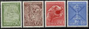 Norway Scott 586-589 MNH!