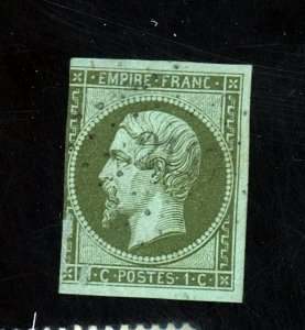 FRANCE #13 USED FVF CPL SM THINS Cat $80