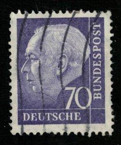 Deutsche Bundespost, 70 Pfg, 1957 Professor Dr. Th. Heuss,  SC#263 (T-7519)