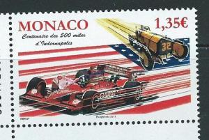 Monaco 2614 2011 Car Race single MNH
