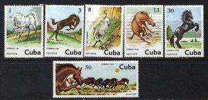 CUBA 2433-38 MNH HORSES Z7-24