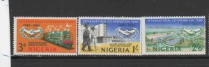 NIGERIA #178-180  1965 INTERNATIONAL COOPERATION YEAR    MINT  VF NH  O.G