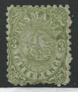 Tasmania 1863 3d Postal Fiscal stamp perf 10 mint no gum