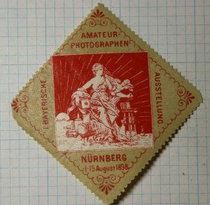 Amateur Photographer Bavarian Exhibition WW Exposition Poster Stamp Ads