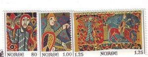 Norway Sc 685-7 1976 Tapestry stamps NH