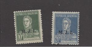 Argentina, OD222B, 24B, Official Department Singles, Hinged