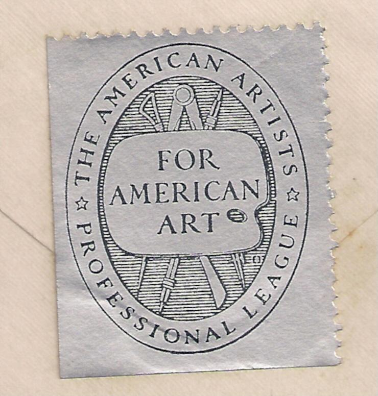 The American Artists Professional League seal on reverse cvr