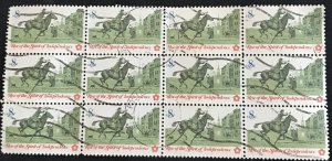 US #1478 Used Block of 12 Postrider SCV $3.00 L35