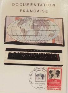 L) 1985 FRANCE, FRENCH DOCUMENTATION, WORLD, COMPUTER KEYBOARD, XF