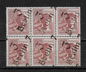 Germany 1948 Berlin-7 Soviet Occupation Zone 60pf Block of 6,Mi A179i,VF MNH**OG