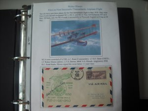 152 Different 1930-31 Covers Autographed by Lt Walter Hinton, U.S. Army Air Corp