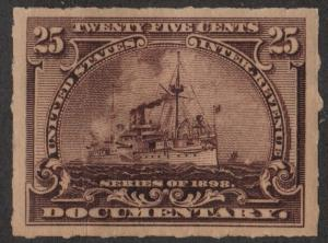 R169 25¢ Documentary Stamp (1898) MHR (Paper)