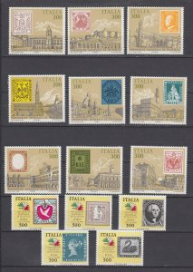 J29692, 1985 italy mnh #1651a-i-652a-e stamps on stamps