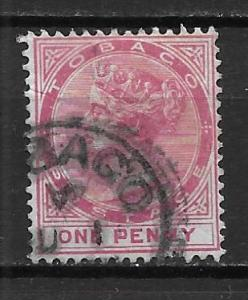 Tobago 17 1d Victoria single Used