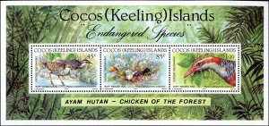 Cocos Islands #262-263, Complete Set(2) Sheet of 3 and Strip 4, 1992, World W...