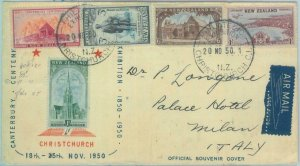 83369 - NEW ZEALAND  - Postal History -   FDC COVER to ITALY  1950