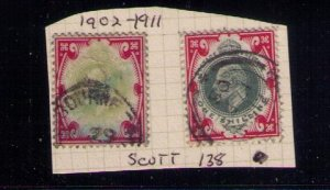 Great Britain  Sc #138/138a Used VF