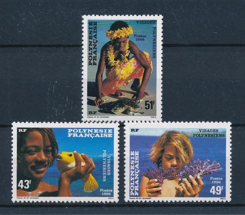 [48838] French Polynesia 1986 Children with fish Corals Turtle MNH