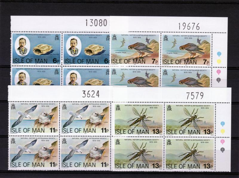 Isle of Man 1979 Sc#142/145 Natural History/Birds Block of 4 MNH VF