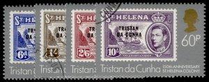 TRISTAN DA CUNHA QEII SG365-368, 1984 complete set, FINE USED.