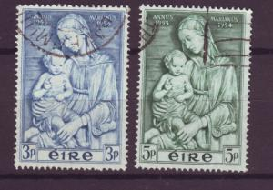 J16331 JLstamps 1954 ireland set used #151-2 madonna