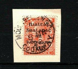 IRELAND 1922 Free State Overprints EIRE *Mountbellew Galway* Postmark MS2269